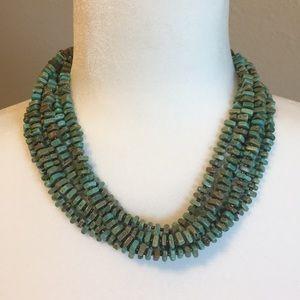 Silpada Retired Green Howlite 6 Strand Necklace